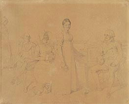 Portrait of the Forestier Family, c.1828 by Ingres | Painting Reproduction