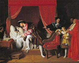 Francis I Receives the Last Breaths of Leonardo da Vinci, 1818 by Ingres | Painting Reproduction