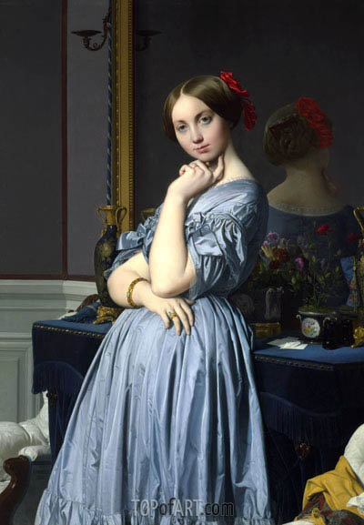 Comtesse D'Haussonville, 1845 | Ingres| Painting Reproduction