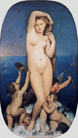 Venus Anadyomene, 1848 | Ingres | Painting Reproduction