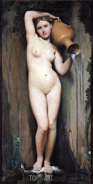 La Source (The Spring), 1856 | Ingres | Painting Reproduction