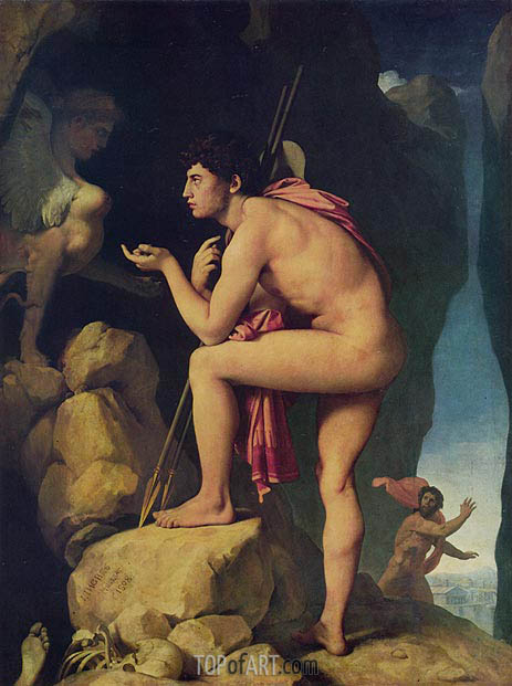 Oedipus and the Sphinx, 1808 | Ingres | Painting Reproduction