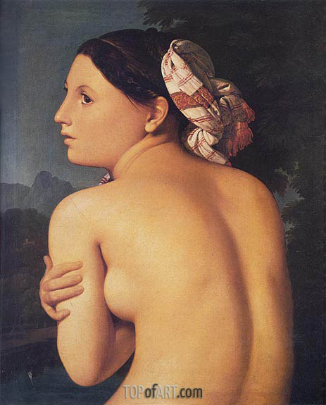 Half-figure of a Bather, 1807 | Ingres | Gemälde Reproduktion