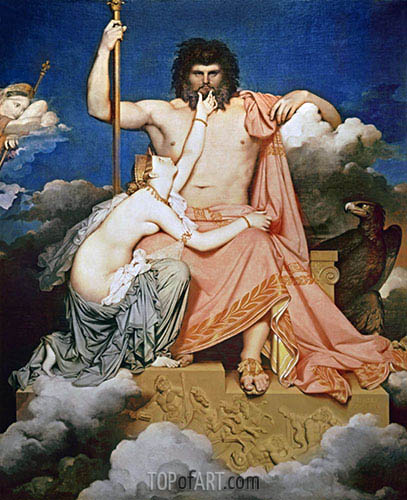 Jupiter and Thetis, 1811 | Ingres| Painting Reproduction