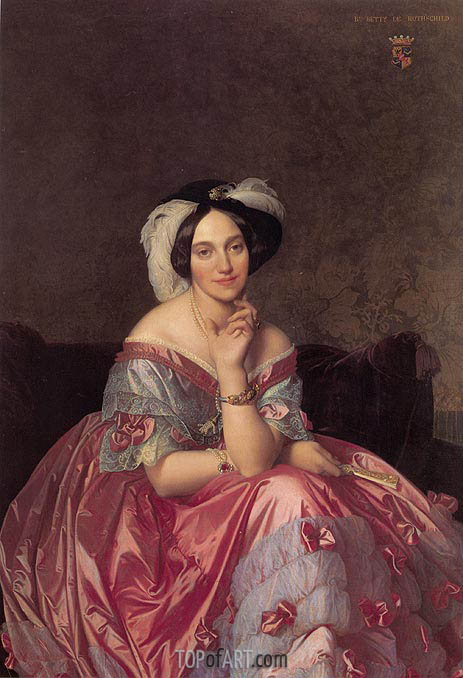 Betty de Rothschild, Baronne de Rothschild, 1848 | Ingres | Painting Reproduction
