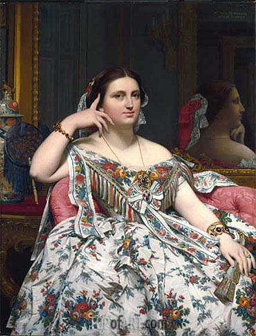 Madame Moitessier, 1856 | Ingres| Painting Reproduction