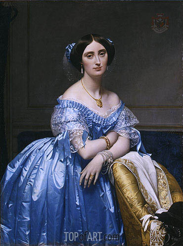 Princesse Albert de Broglie, 1853 | Ingres| Painting Reproduction
