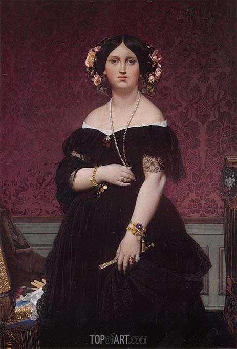 Madame Moitessier, 1851 | Ingres | Painting Reproduction