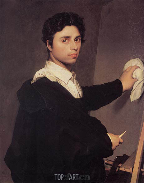 Ingres as a Young Man, c.1850/60 | Ingres| Painting Reproduction