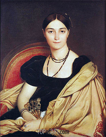 Portrait of Madame Antonia de Vaucay nee de Nittis, 1807 | Ingres | Painting Reproduction