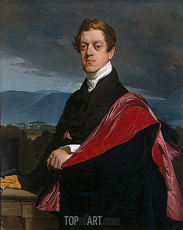 Ingres | Portrait of Count Nikolay Guryev, 1821