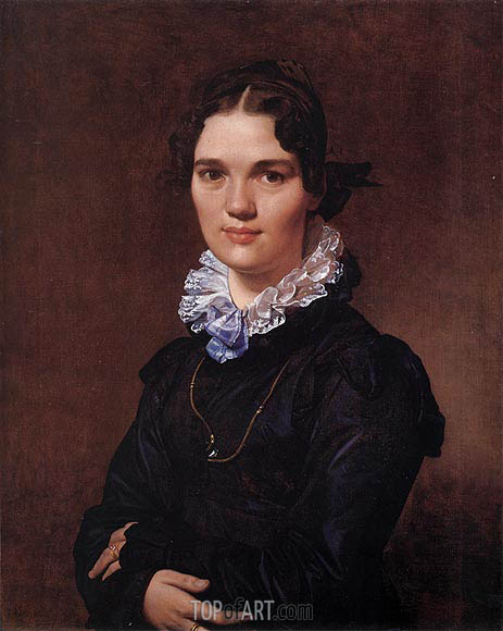 Mademoiselle Jeanne Gonin, 1821 | Ingres| Painting Reproduction
