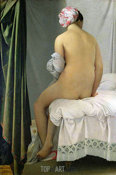 Valpincon Bather, 1808 | Ingres | Painting Reproduction