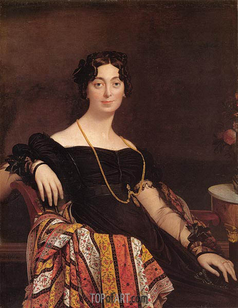 Ingres | Madame Jacques-Louis Leblanc, 1823