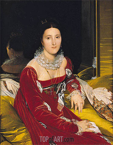 Madame de Senonnes, c.1814/16 | Ingres| Painting Reproduction
