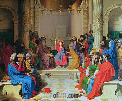 Jesus Among the Doctors, 1862 | Ingres| Painting Reproduction
