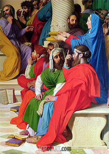 Jesus Among the Doctors (Detail), 1862 | Ingres| Painting Reproduction