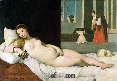 Reclining Venus (After Titian), 1822 | Ingres| Gemälde Reproduktion