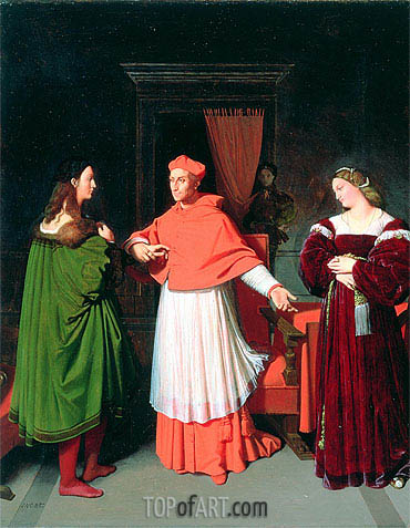 Ingres | The Betrothal of Raphael and the Niece of Cardinal Bibbiena, 1813