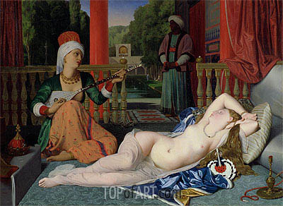Odalisque with Slave, 1842 | Ingres| Gemälde Reproduktion