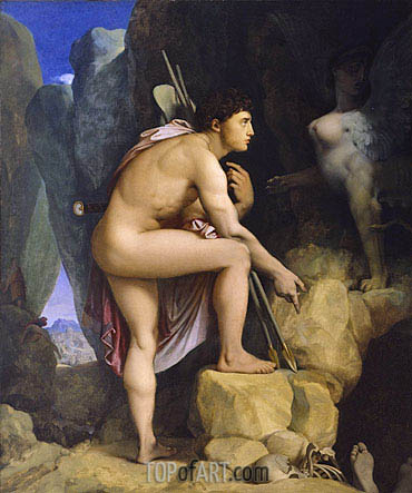 Oedipus and the Sphinx, 1864 | Ingres | Painting Reproduction