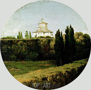 View of the Villa Medici, Rome,  | Ingres | Painting Reproduction