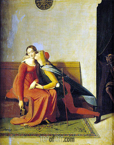 Gianciotto Discovers Paolo and Francesca, 1814 | Ingres| Painting Reproduction