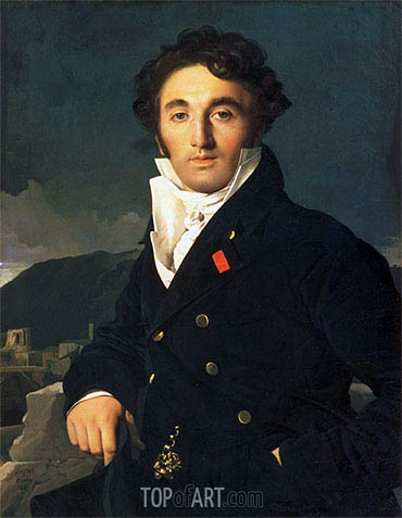 Portrait of Charles Cordier, 1811 | Ingres | Painting Reproduction