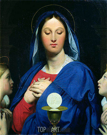 The Virgin of the Host, 1866 | Ingres| Painting Reproduction