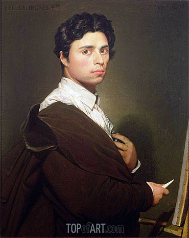 Self Portrait at the Age of Twenty-Four, 1804 | Ingres | Painting Reproduction