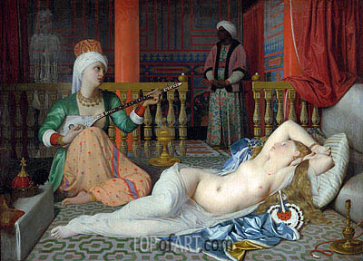 Odalisque with a Slave, c.1839/40 | Ingres | Gemälde Reproduktion