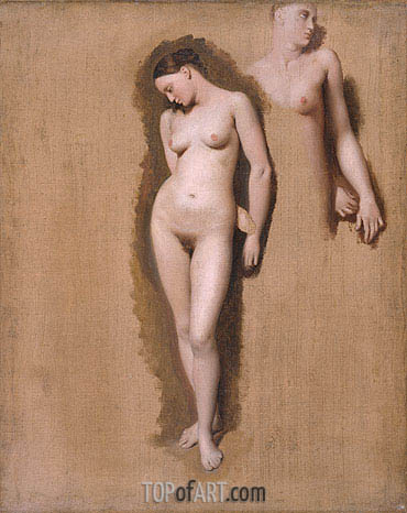 Study for 'Roger Freeing Angelica', 1818 | Ingres| Painting Reproduction