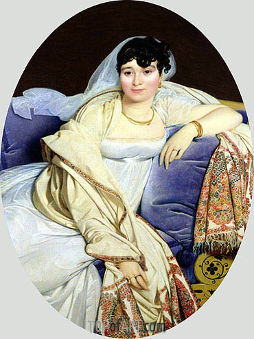 Portrait of Madame Riviere nee Marie Francoise Jacquette Bibiane Blot de Beauregard, 1805 | Ingres| Painting Reproduction