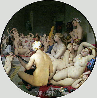 The Turkish Bath, 1863 | Ingres | Gemälde Reproduktion