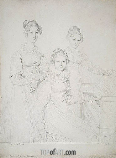 Ingres | The Kaunitz Sisters (Leopoldine, Caroline and Ferdinandine), 1818