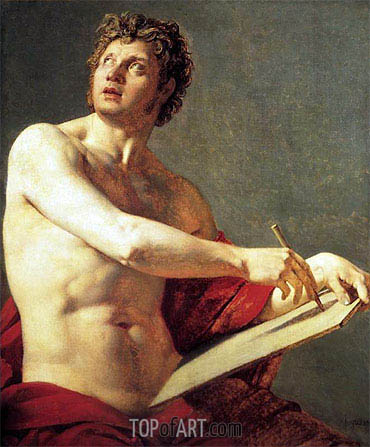 Academic Figure, 1801 | Ingres | Painting Reproduction