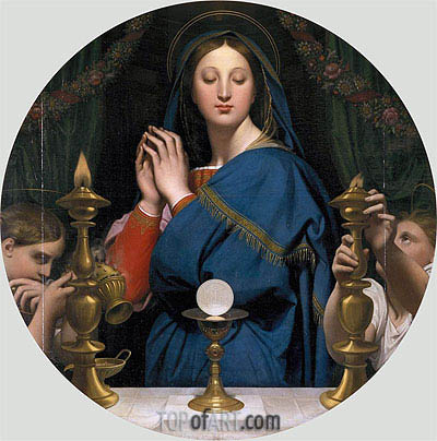 The Virgin of the Host, 1854 | Ingres | Painting Reproduction