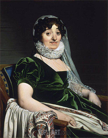 Portrait of the Countess of Tournon, 1812 | Ingres| Painting Reproduction