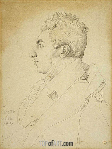 Portrait of a Man, 1811 | Ingres| Painting Reproduction