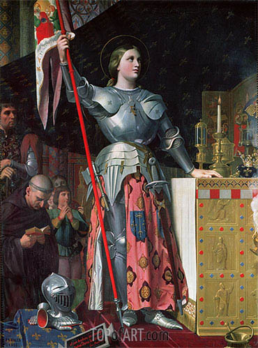 Joan of Arc at the Coronation of King Charles VII, 17th July 1429, 1854 | Ingres| Painting Reproduction