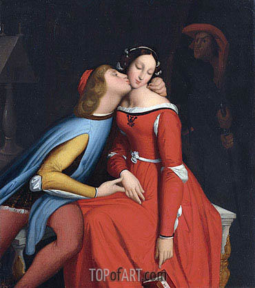 Paolo and Francesca,  | Ingres| Painting Reproduction
