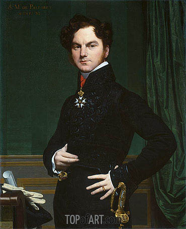 Amedee-David, The Marquis de Pastoret, c.1823/26 | Ingres| Painting Reproduction