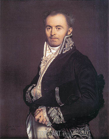 Hippolyte-Francois Devillers, 1811 | Ingres | Painting Reproduction