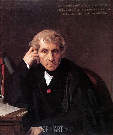 Ingres | Maria Luigi Carlo Zenobio Salvatore Cherubini, 1841
