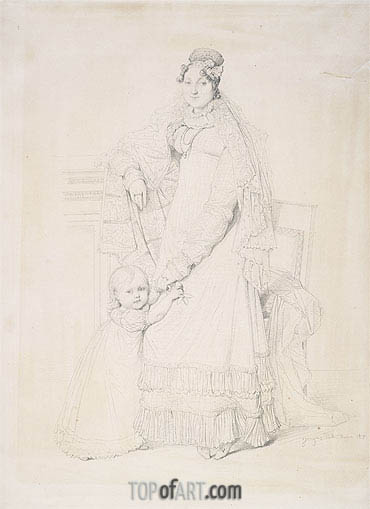 Ingres | Portrait of Mme. Augustin Jordan and Her Son Gabriel, 1817