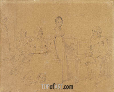 Portrait of the Forestier Family, c.1828 | Ingres | Painting Reproduction