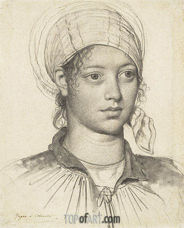 Portrait of a Young Woman, 1804 | Ingres| Gemälde Reproduktion