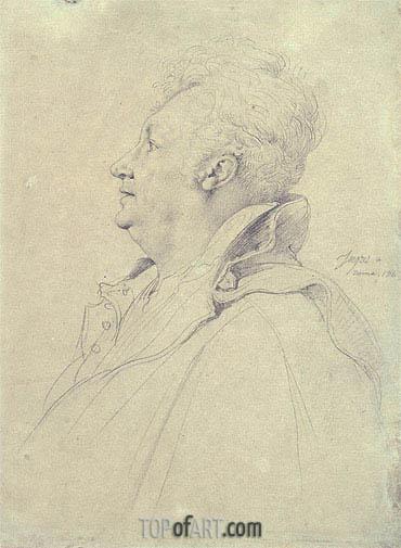 Ingres | Portrait of Guillaume Guillon Lethiere, 1811
