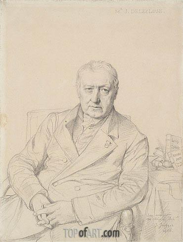 Ingres | Portrait of Etienne-Jean Delecluze, 1856