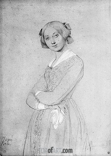 Portrait of Louise d'Haussonville, 1842 | Ingres | Painting Reproduction